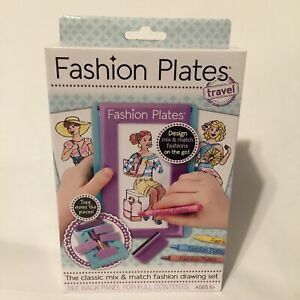 Fashion Plates TRAVEL Set Kahootz Dress Design Clothing Designer Kit NIB Rubbing