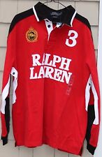 NWT- Polo Ralph Lauren Men's Snow Polo Challenge Cup Crest Rugby Shirt Size S
