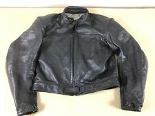 Vtg SPYKE Cafe Racer Leather Motorcycle Biker Jacket Womens 52/XL Padded Armor