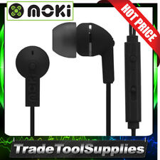 Moki Earphones Ear Buds In-Line Noise Isolation 99dB 45° BLACK  ACC-HCBMK