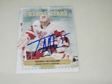 THOMAS McCOLLUM AUTOGRAPHED 2010 IN THE GAME BETWEEN THE PIPES FUTURE STARS CARD