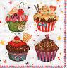 4 Motivservietten Servietten Napkins Tovaglioli Kuchen Cupcakes Cup Cakes (1170)