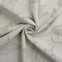 ASHLEY WILDE DESIGNER NATURAL COTTON BUTTERFLY CURTAIN CUSHION FABRIC