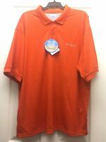 Columbia Perfect Cast PFG Polo Shirt Men's Size XL Orange NEW