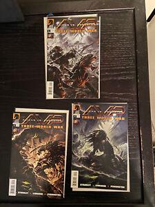 Aliens vs. Predator AVP Three World War #1 #2 #5 Dark Horse 2010