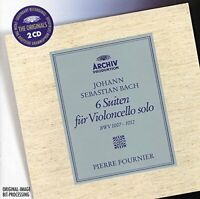Pierre Fournier - Bach 6 Cello Suites BWV 1007 1008 1009 1010 1011 and 1012 [CD]