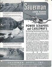 Equipment Brochure - Sauerman - Power Scrapers Cableways - c1952 (E3288)