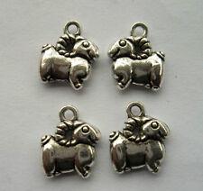 25pcs Tibetan silver sheep charm pendant 13x14mm