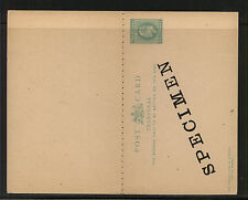 Transvaal  postal  reply  card  unused   specimen          AT0525