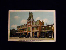 FIRE STATION ST HYACINTA QUEBEC  CANADA  POST CARD 1900s #910