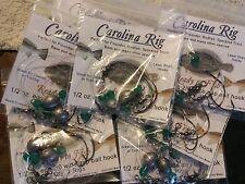 Carolina rig 80pcs w/ 2/0 Mustad bait hook flounder fishing redfish catfish bass