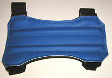 "ARCHERY ARM GUARD. 7"" ROYAL BLUE TWO STRAP VINYL GUARD BY ARROWHEAD"