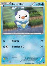 Moustillon - N&B: Noir et Blanc - 27/114 - Carte Pokemon Française Neuve
