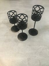 New Listing3 Black Candle Holders
