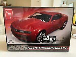2006 Camaro 1/25 Plastic Red Concept Car Model Kit.New Sealed..