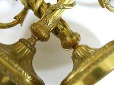 PAIRE de CHANDELIERS ANCIENS, bronze doré, bougeoir, chandeliers bronze doré .