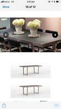 italian Dining Table and four leather Chairs