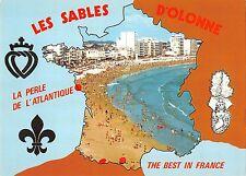BR53290 Les sables d olonne la plus belle plage francoise map cartes      France