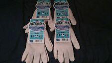 New Brahma 4 Pair Premium String Knit Reversible Glove LinerSize Large
