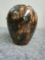 Nice Antique Brown Vase-Brush McCoy Onyx Glaze