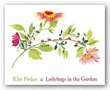 INSECT ART PRINT Lady Bugs in the Garden Kim Parker