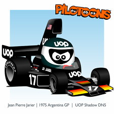 Print on Canvas UOP Shadow DN5 1975 #17 Jean Pierre Jarier (FRA) Argentina by BM