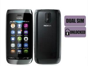 Nokia asha 308 Dual SIM Original touch screen 2MP Bluetooth FM MP4 Player 3.0 in
