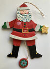 TOMIE DEPAOLA Wooden Midwest Of Cannon Falls Pull String SANTA CLAUS Ornament