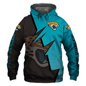 Jacksonville Jaguars Hoodie Hooded Pullover S-5XL Football Team Fans NEW Designs