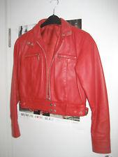 LEDERJACKE Jacke rot bikerstyle kurz Gr. 38