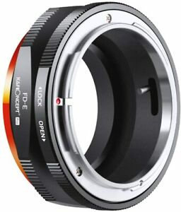 K&F Concept FD to E Mount Lens Mount Adapter for Sony A6000 A6400 A7II A5100 A7