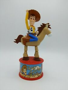 McDonalds Disney Toy Story 2 1999 Woody roundup candy dispenser action figure