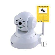 Cámara IP wifi inalámbrica Vigilancia grabación motorizada WANSCAM HW0024 blanca