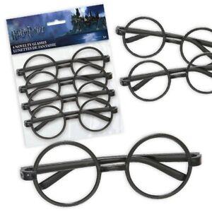 """4 Spassbrillen """"Harry Potter"""",  für Kindergeburtstag und Mottopartys, 13cm x 5cm"""