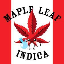 "Maple leaf Indica, 60 - 1.5"" vinyl strain art stickers, 420 Mix n Match Strains"
