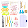Hdauk 56 in One Basic Sewing Knitting Tools Needles Stitch Holders Markers Kit
