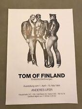 Vintage Tom Of Finland Berlin Art Gallery 1984 Poster 23.25 x 16.5
