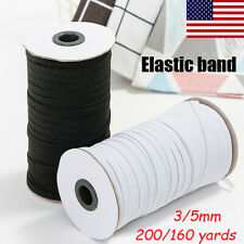 200 yards Braided Elastic Band Cord Knit 3/5mm Stretch DIY Face Mask Sewing 1/8