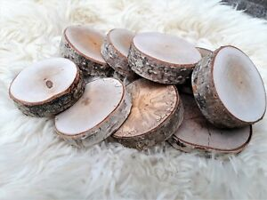 6 PCS 6cm WOODEN WOOD LOG SLICES ROUND PERSONALIZED DECORATIVE RUSTIC WEDDING