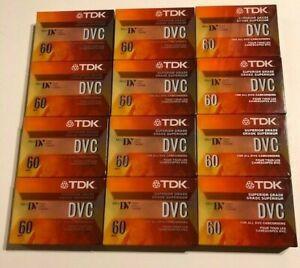 lot of (12) new sealed TDK Mini DV Digital Video Cassettes DVC60 tapes 60 min