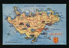 Channel Islands GUERNSEY map Novelty Pocket PPC Used 1956
