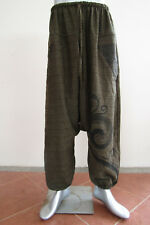 Om YoGa Pants Hippie Boho Trousers Baggy style Brown C62