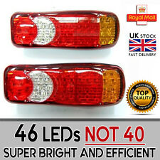 2 x 24v 46 Led Rear Tail Light Truck Trailer Chassis Lorry Transporter Set