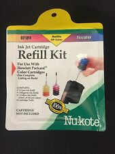 Nu-Kote RF184 Ink Jet Cartridge Refill Kit Tricolor HP Compatible Laser Printer