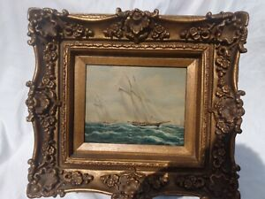 TIMELESS TREASURES VINTAGE SEA AND SHIP PAINTING SIGNED