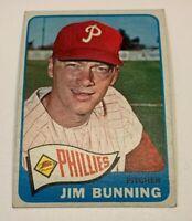 1965 Topps # 20 Jim Bunning Baseball Card Philadelphia Phillies HOF