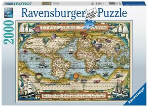 2000 pcs jigsaw puzzle: Around the World (Maps) (Ravensburger 168255)