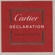 Carte à parfumer  - perfume card - Déclaration de Cartier