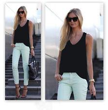 Women Summer Vest TopS Sleeveless Shirt Blouse Casual Tank Tops T-Shirt L
