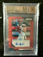 2018 Prizm Baker Mayfield Red Wave Auto Rookie RC Browns /199 BGS 9.5 GEM MINT